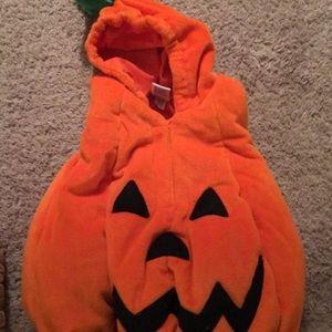 kids halloween pumpkin costume  size 6 months